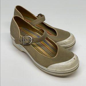 Dansko Mary Jane Wedges Women's Size 9.5 Tan